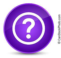 Question icon elegant purple round button