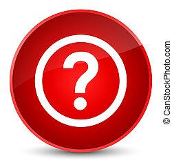 Question icon elegant red round button