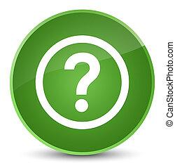 Question icon elegant soft green round button