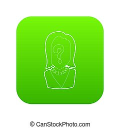 Question icon green