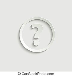 Question icon.  Help  speech bubble symbol. Chat symbol with the Question icon. Vector icon for website design, app.