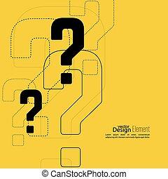 question, icon., marque