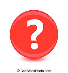Question icon on red background.