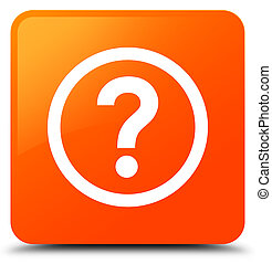Question icon orange square button
