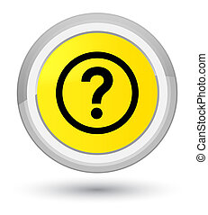 Question icon prime yellow round button