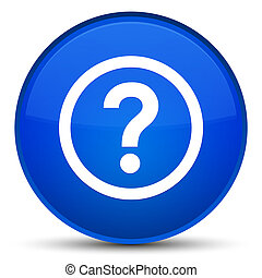 Question icon special blue round button