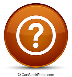 Question icon special brown round button