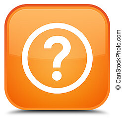 Question icon special orange square button