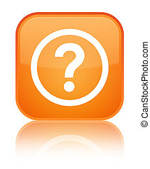 Question icon special orange square button