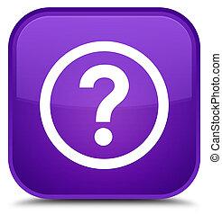 Question icon special purple square button