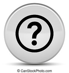 Question icon special white round button