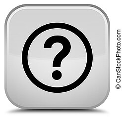 Question icon special white square button