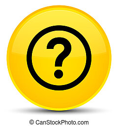 Question icon special yellow round button