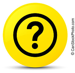 Question icon yellow round button