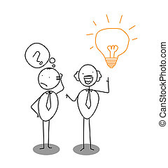 question, idea & man
