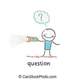 question. Fun cartoon style illustration. The situation of...