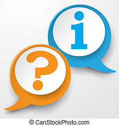 Question Information Speech Bubble - Paper speech bubble...