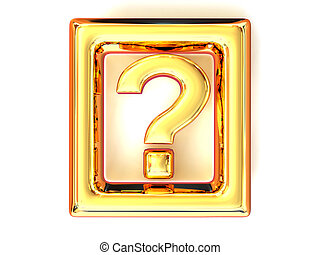 Question. Information. Symbol. 3d