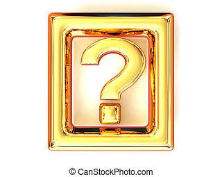 Question. Information. Symbol