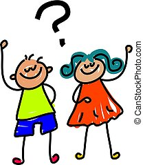 kids with questions to ask - toddler art series