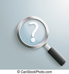 question, loupe, marque, blanc