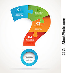 Question mark abstract design and infographics, background -...