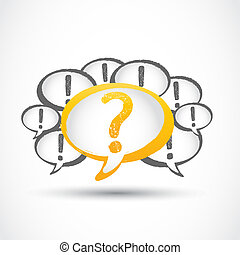 question mark and exclamation marks vector background