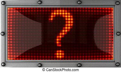 question mark announcement