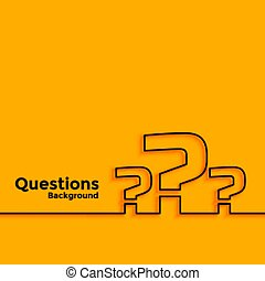 question mark background with text space area