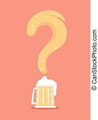 Question Mark Beer Illustration