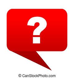 question mark bubble red icon