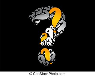 Question mark, business concept background