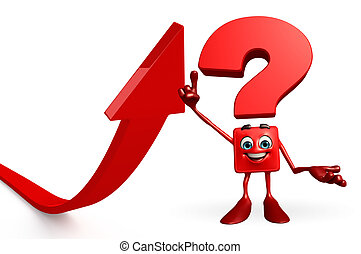 Question Mark character with arrow