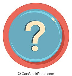 question mark circle icon with shadow