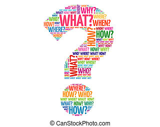 Question mark, Question words vector concept