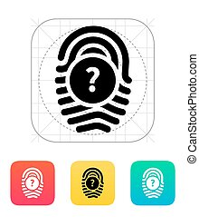 Question mark, FAQ sign. Fingerprint icon. - Question mark...
