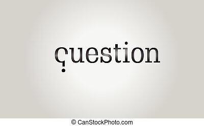 Question mark - first letter of the word