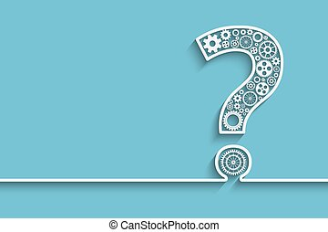 Question mark from gears - Creative Question mark with...