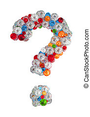Question mark from gems
