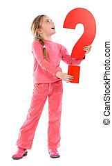 question mark girl