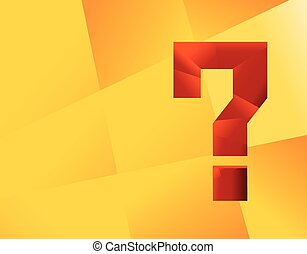 Question mark graphics for related concepts. Problem...