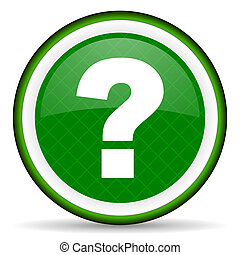question mark green icon ask sign