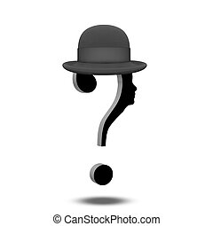 Question Mark Human with Hat