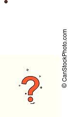 Question mark icon design vector