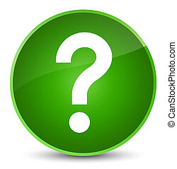 Question mark icon elegant green round button