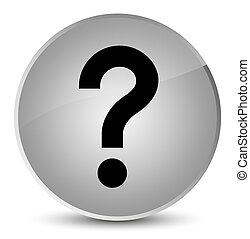 Question mark icon elegant white round button