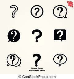 Question mark icon, FAQ flat sign, ask for help Sign Icon Vector Logo Template