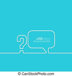 Question mark icon. Help symbol. FAQ sign on background. vector. Speech Bubbles and Chat symbol.
