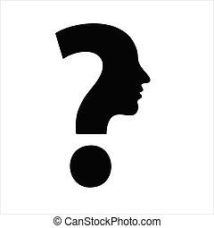 Question mark icon isolated on white background. Question mark icon in trendy design style.