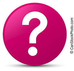 Question mark icon pink round button